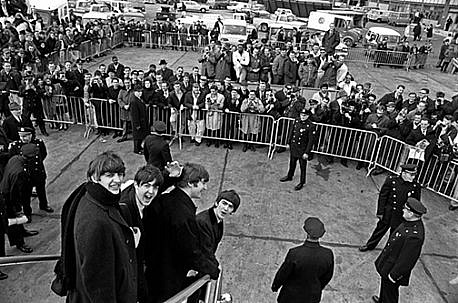 Harry Benson ,   Beatles Arriving NYC, Edition of 35  ,  1964     photograph ,  24 x 30 in. (61 x 76.2 cm)     HB120805
