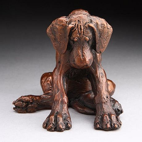 Louise Peterson ,   Getting Sleepy, Ed. 52/99      bronze ,  3 x 3 1/2 x 3 in. (7.6 x 8.9 x 7.6 cm)     LP111003