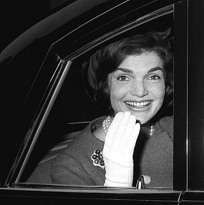 Harry Benson ,   Jackie Kennedy in Car, London, Edition of 35  ,  1962     photograph ,  24 x 30 in. (61 x 76.2 cm)     HB121106