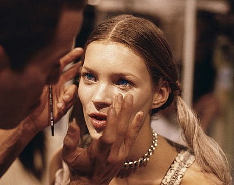 Harry Benson ,   Kate Moss, Makeup, Edition of 35  ,  1993     photograph     HB120468