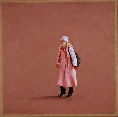 Scott Duce ,   Pink Coat  ,  2009     oil on panel ,  12 x 12 in. (30.5 x 30.5 cm)     SD101109