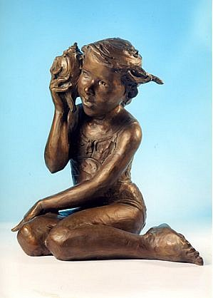 Jane DeDecker ,   Seashore, lifesize, Ed. 10/31  ,  2000     bronze ,  24 x 26 x 15 in. (61 x 66 x 38.1 cm)     JDD3103
