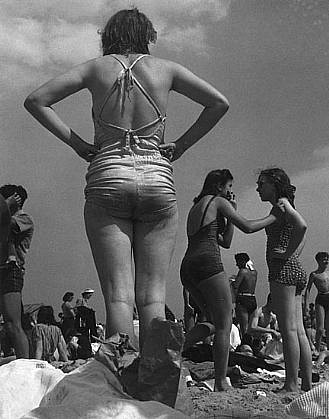 Morris Engel ,   Woman on Beach, Coney Island, NYC  ,  1938     Photography ,  14 x 11 in. (35.6 x 27.9 cm)     ME050507