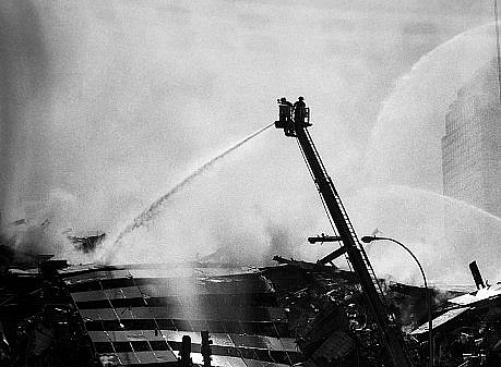 Harry Benson ,   WTC Fireman on ladder, New York, Edition of 35  ,  2001     photograph     HB120440