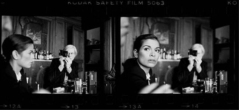 Harry Benson ,   Andy & Bianca, The Factory, New York  ,  1977     photograph ,  40 x 86 in. (101.6 x 218.4 cm)     HB130801