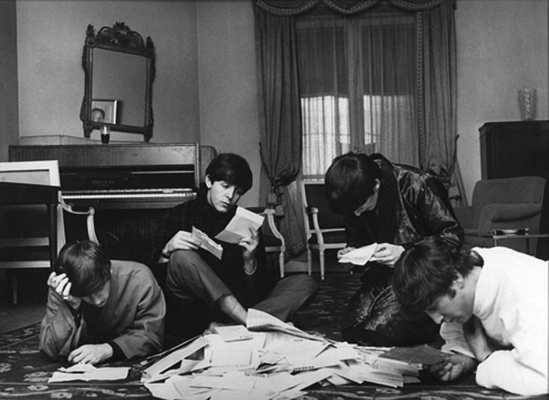 Harry Benson ,   Beatles Fan Mail, Paris  ,  1964     photograph