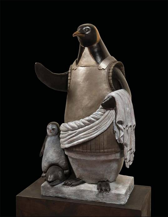 Bjorn Skaarup ,   Emperor Penguin, Edition of 6  ,  2013     bronze ,  63 x 25 1/2 x 19 1/2 in. (160 x 64.8 x 49.5 cm)     BS130601