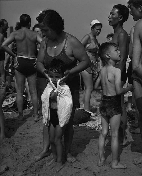 Morris Engel ,   Drying Off, Coney Island, NYC  ,  1938     Photography ,  14 x 11 in. (35.6 x 27.9 cm)     ME070507