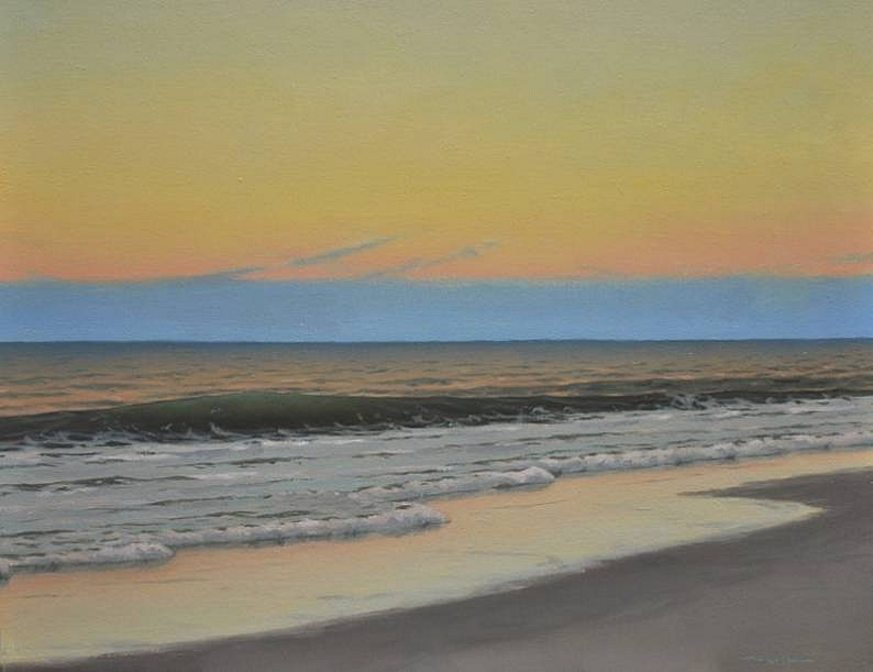 Edward Minoff ,   Dusk  ,  2011     oil on canvas ,  14 x 17 in. (35.6 x 43.2 cm)     EM110801