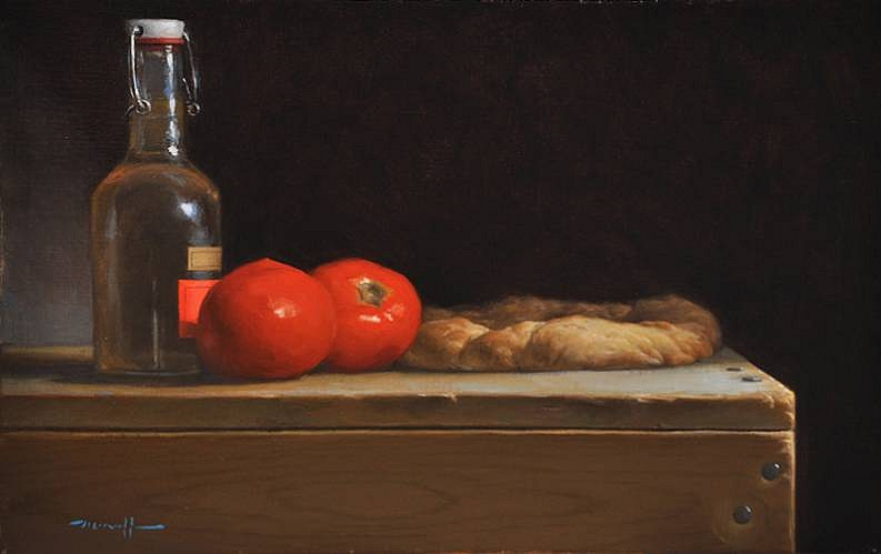 Edward Minoff, Focaccia 2012, oil on linen