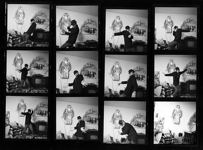 Harry Benson ,   Bob Fosse, Contact Sheet, Edition of 35  ,  1979     photograph ,  24 x 30 in. (61 x 76.2 cm)     HB121111