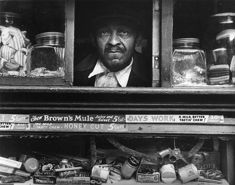 Morris Engel ,   Harlem Merchant, New York City  ,  1937     photograph ,  11 x 14 in. (27.9 x 35.6 cm)     ME603