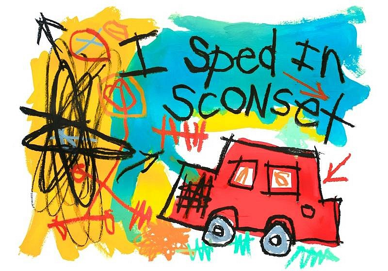 Stephen Pitliuk ,   I Sped in Sconset  ,  2010     Giclee Print on rag paper ,  17 x 22 in. (43.2 x 55.9 cm)     101101