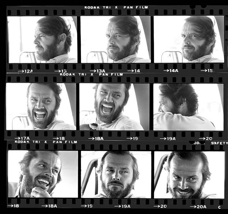 Harry Benson ,   Jack Nicholson, Contact Sheet, Edition of 35  ,  1975     photograph     HB120431