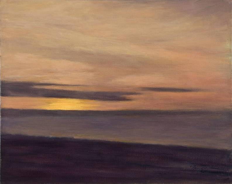 Nina Maguire ,   Montauk Sunset  ,  2012     24 x 30 in. (61 x 76.2 cm)     NM120907