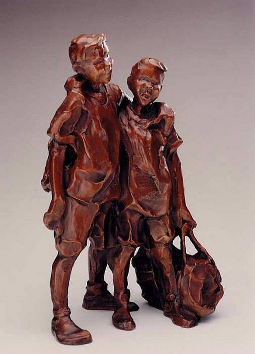 Jane DeDecker, Stand By Me, maquette, Ed. of 31 2001, bronze