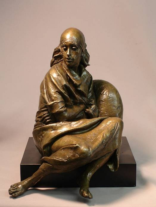 Bruno Lucchesi ,   Resting, Edition of 6  ,  1979     bronze ,  14 x 11 x 13 in. (35.6 x 27.9 x 33 cm)     BL010608
