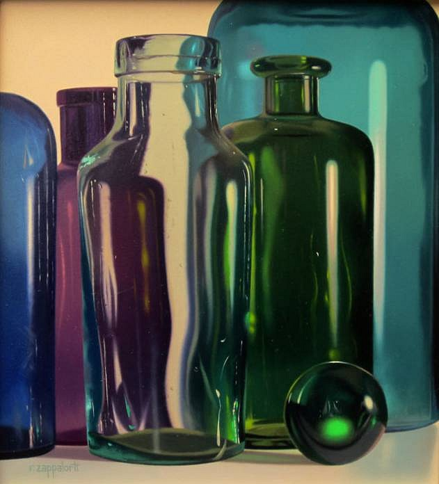 Robert E. Zappalorti ,   Transparencies  ,  2013     oil on panel ,  10 x 9 in. (25.4 x 22.9 cm)     RZ130701
