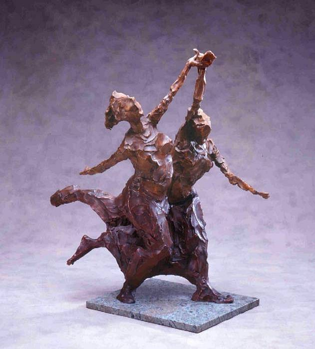 Jane DeDecker ,   Triumph, Ed. of 7  ,  2003     bronze ,  27 x 24 x 13 in. (68.6 x 61 x 33 cm)     JDD2403