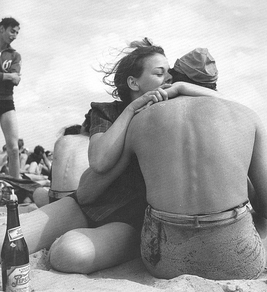 Morris Engel ,   Coney Island Embrace  ,  1938     Photography ,  14 x 11 in. (35.6 x 27.9 cm)     ME040507