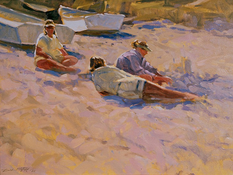 Don Stone, Sandcastles 2004, oil on canvas