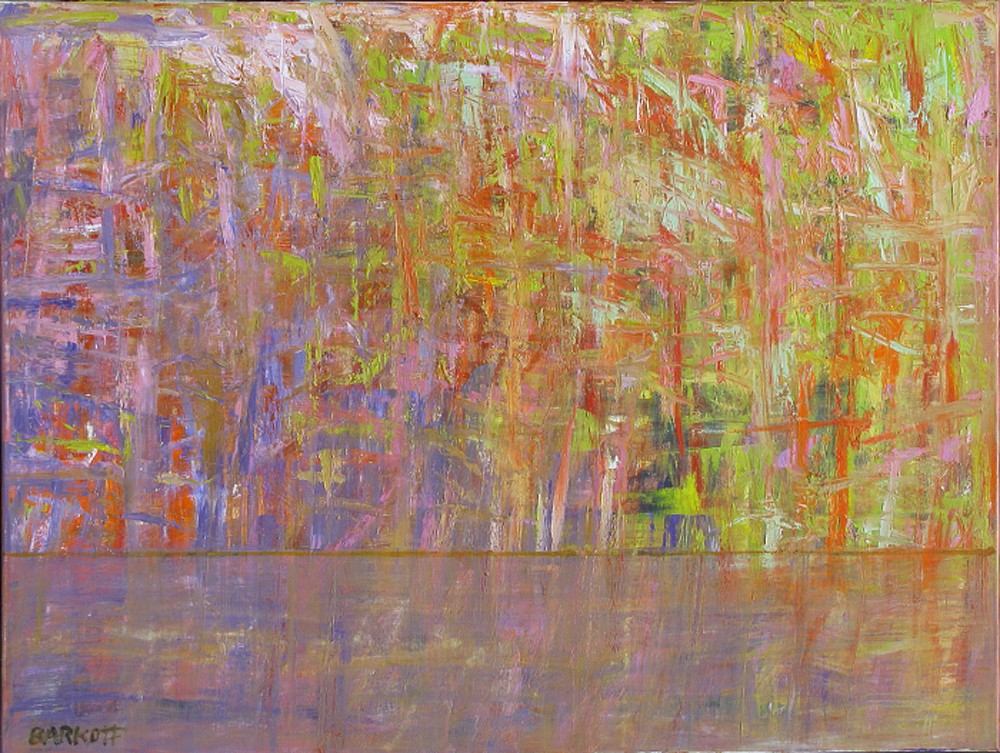 Ira Barkoff ,   Forest Series - Red  ,  2012     oil on canvas ,  36 x 48 in. (91.4 x 121.9 cm)     IB121006