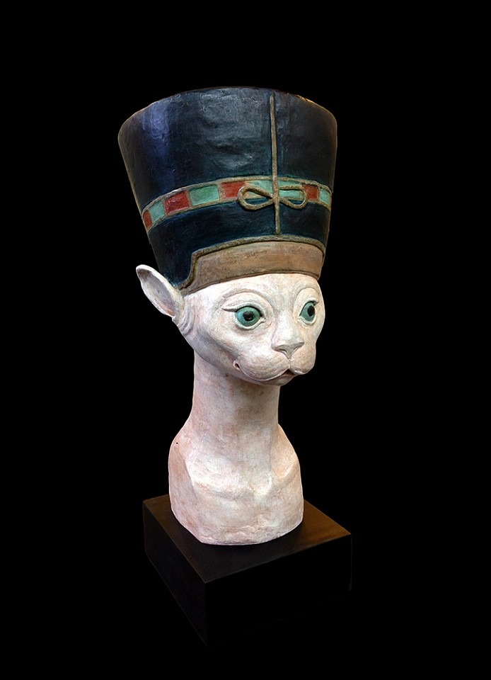 Bjorn Skaarup ,   Egyptian Cat  ,  2014     bronze ,  22 x 11 x 8 in. (55.9 x 27.9 x 20.3 cm)     BS140601