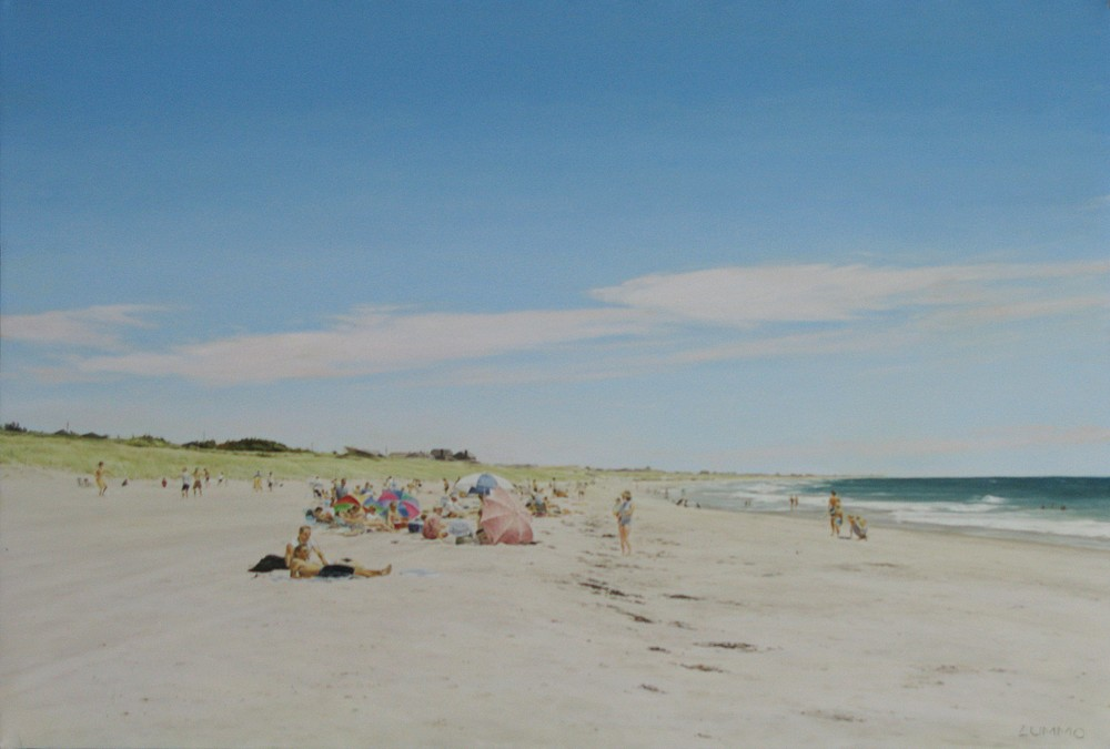 Lori Zummo ,   Afternoon at Surfside II  ,  2008     oil on canvas ,  24 x 36 in.     LZ010608