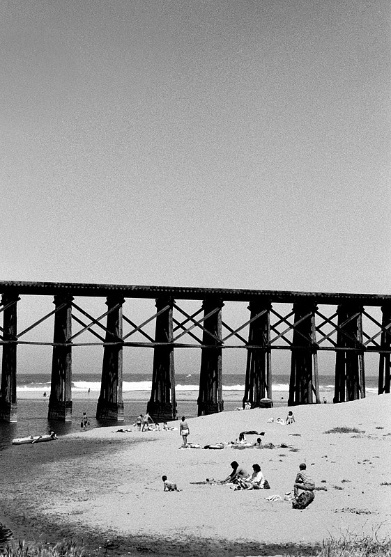 Robert Farber, Railroad Across the Beach fine art paper pigment print