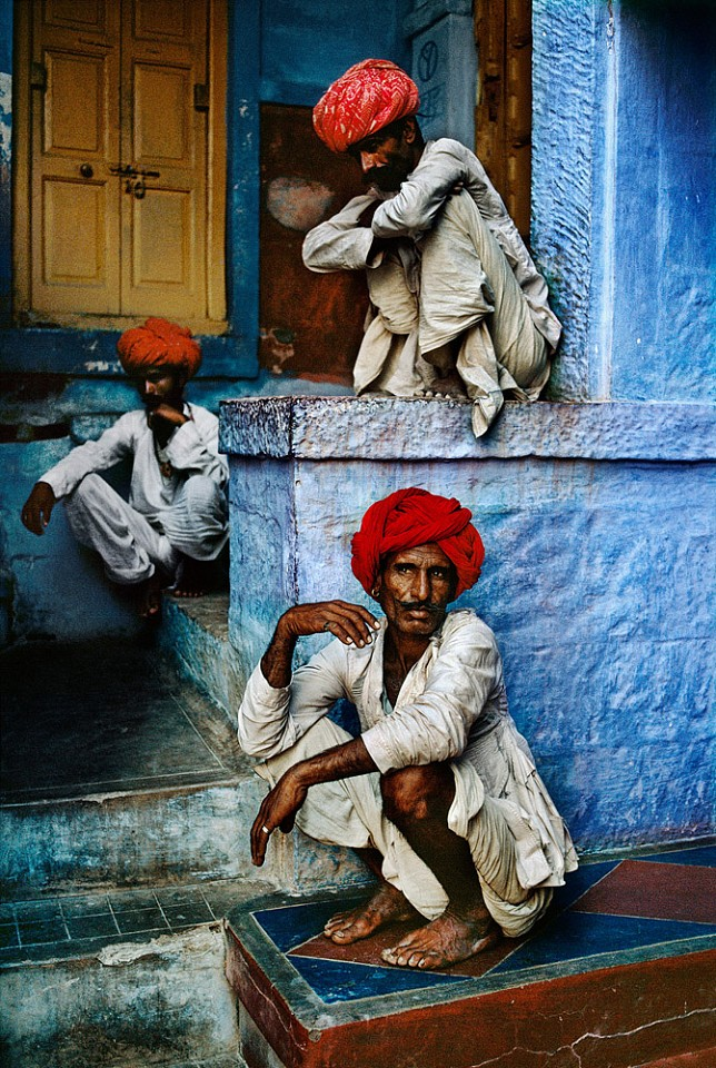 Steve McCurry ,   Men on Steps, Jodhpur  ,  1996     FujiFlex Crystal Archive Print ,  (Inquire for available sizes)     INDIA-10233