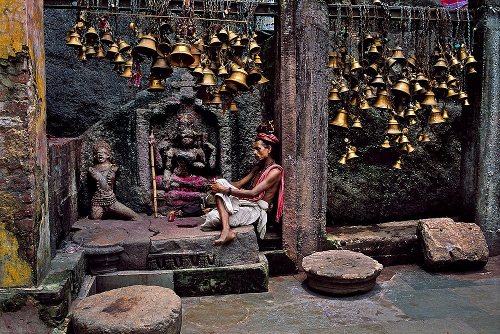 Steve McCurry ,   Man with Many Bells  ,  2001     FujiFlex Crystal Archive Print ,  (Inquire for available sizes)     INDIA-10763