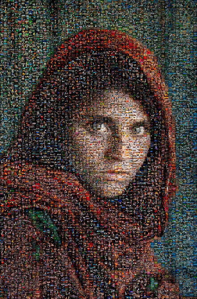 Steve McCurry ,   Afghan Girl Mosaic  ,  2010     FujiFlex Crystal Archive Print ,  40 x 30 in. (Inquire for additional sizes)     AFGRL-10010