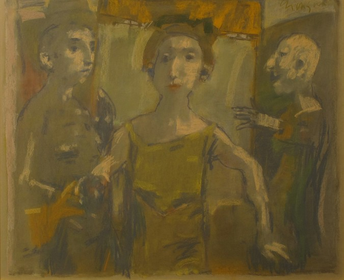 David Aronson, Suzanna and the Elders 1983, pastel on paper