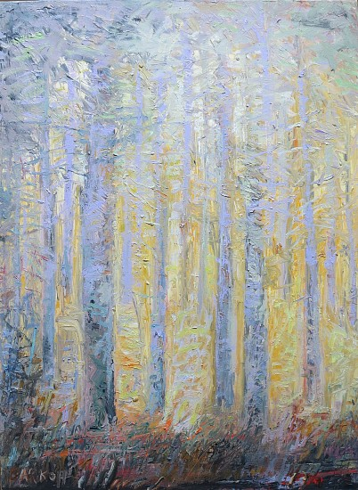 Ira Barkoff, Forest Series, Dawn 2016, oil on canvas