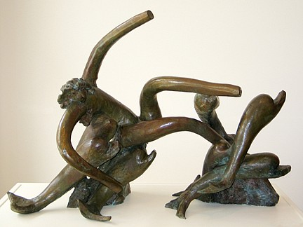 Reuben Nakian ,   Nymph and Seven Dolphins ed. 6/9  ,  1986     bronze ,  40 1/2 x 56 1/2 x 27 in. (102.9 x 143.5 x 68.6 cm)     RN1033