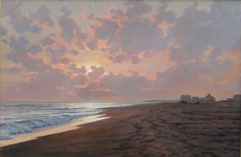 Frank Corso, Misty Evening Sunset 2016, oil on canvas