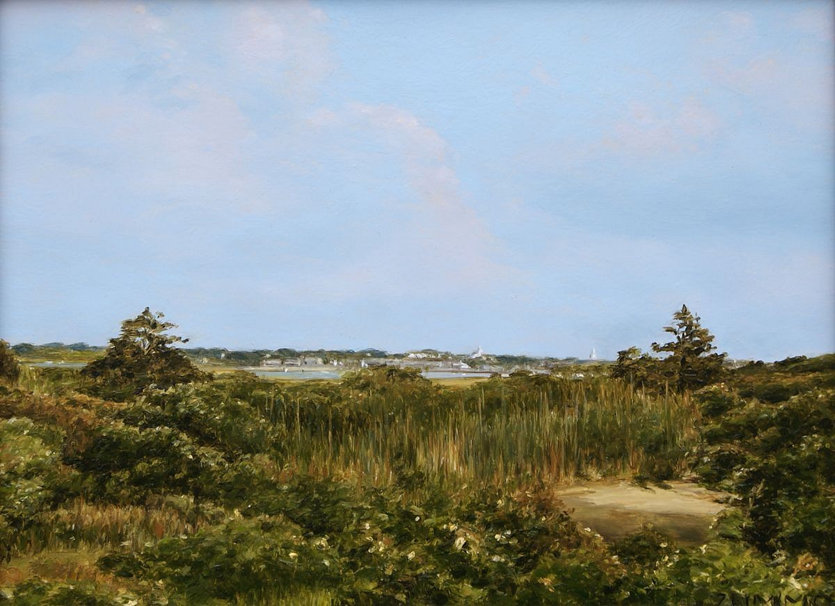 Lori Zummo, Monomoy view to Town 2016, oil on panel
