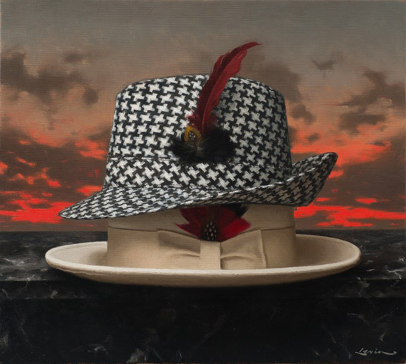 Steven J Levin ,   Houndstooth  ,  2014     oil on canvas ,  15 x 17 in. (38.1 x 43.2 cm)