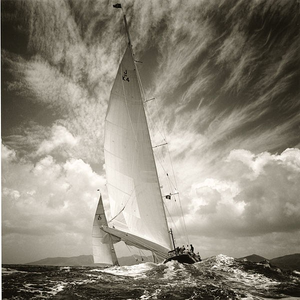 Michael Kahn ,   Velsheda & Endeavour, Edition of 50      silver gelatin photograph ,  19 x 19 in. (48.3 x 48.3 cm)     MK140704
