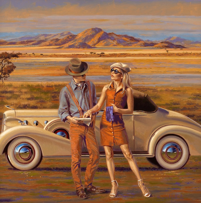 Peregrine Heathcote ,   Routeplan      oil on canvas ,  30 x 30 in. (76.2 x 76.2 cm)     PH180402