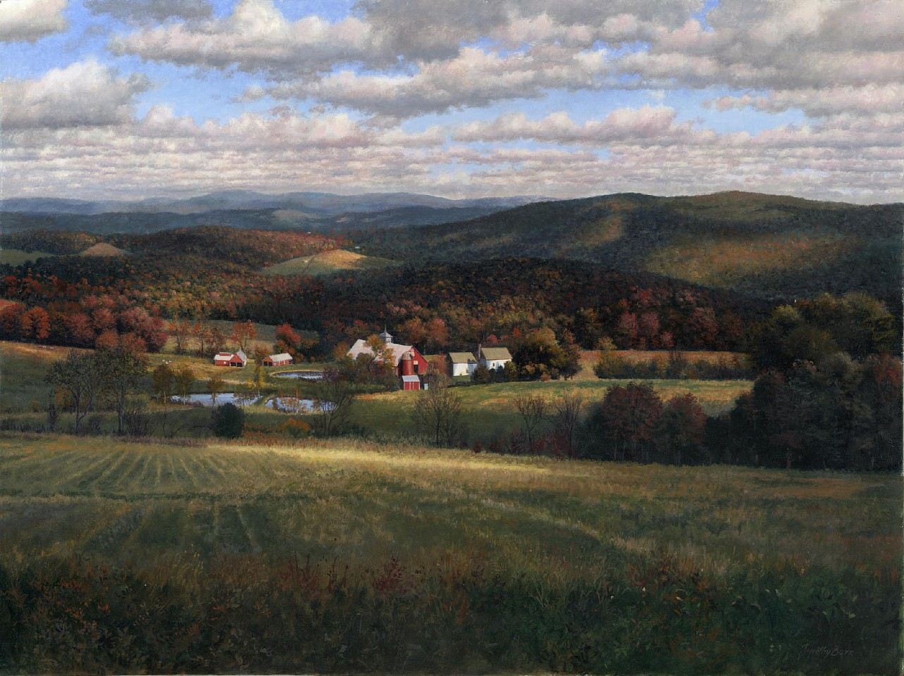 Timothy Barr ,   Peacham Landscape      oil on panel ,  18 x 24 in. (45.7 x 61 cm)     1804002