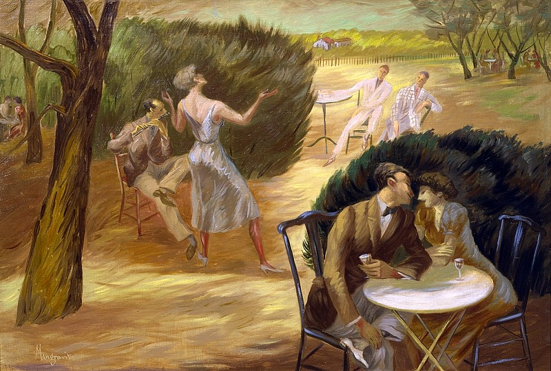 Peppino Mangravite ,   Summer Pleasures  ,  1939     oil on canvas ,  23 x 34 in. (58.4 x 86.4 cm)     PM180401