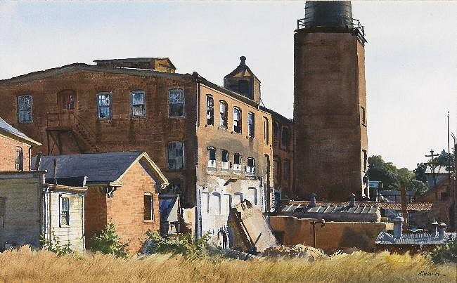 Ogden Pleissner ,   Old Mill, Winchendon, Massachusetts  ,  c. 1960     watercolor on paper ,  16 x 26 in. (40.6 x 66 cm)     5889