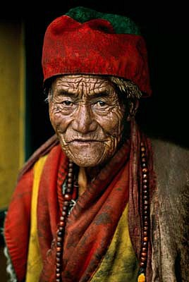 Steve McCurry ,   Monk at the Jokhang Temple, Lhasa  ,  2000     FujiFlex Crystal Archive Print ,  30 x 40 in. (Inquire for additional sizes)     TIBET10009