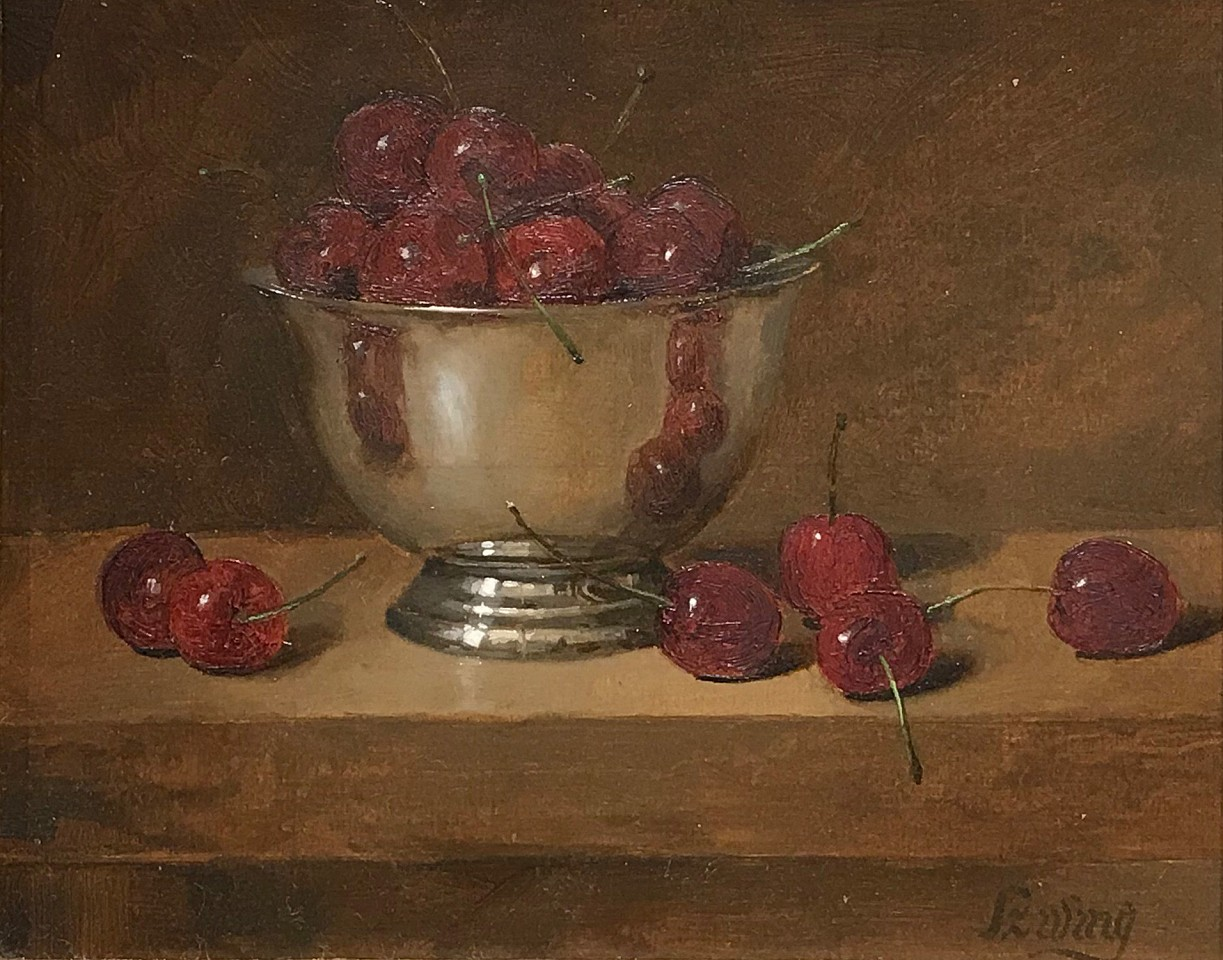 William O. Ewing ,   Life is a Bowl of Cherries      oil on panel ,  8 x 10 in.     WE180404