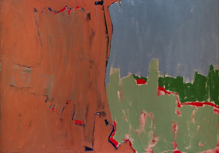 Ann Purcell ,   Misfit  ,  1978     acrylic on canvas ,  63 1/2 x 93 1/2 in. (161.3 x 237.5 cm)     PUR-00046