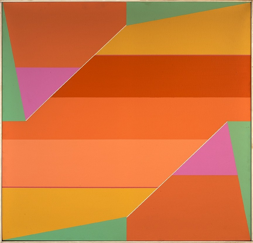 Larry Zox ,   Rotation Series  ,  c. 1965     acrylic on canvas ,  40 1/2 x 42 1/4 in. (102.9 x 107.3 cm)     ZOX-00103