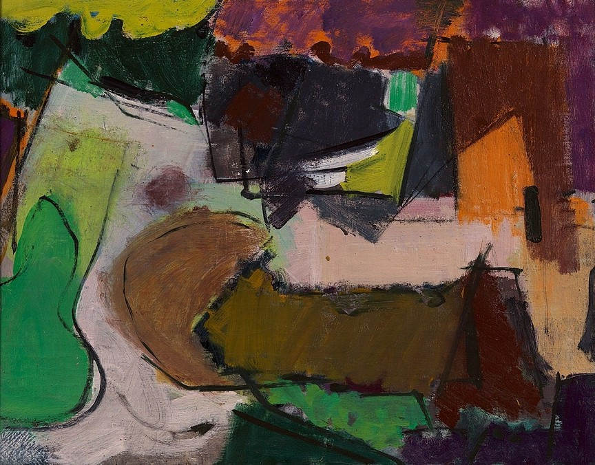 Stephen Pace ,   Untitled  ,  1951     oil on canvas ,  25 x 31 in. (63.5 x 78.7 cm)     PAC-00174
