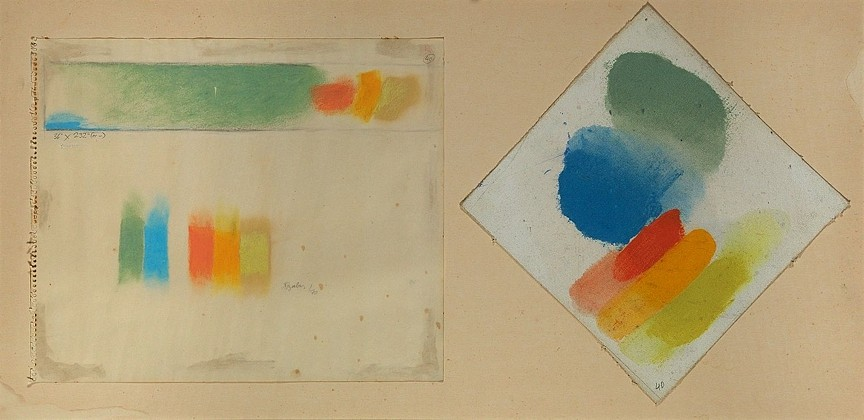 Friedel Dzubas, Untitled 1970, Acrylic on canvas and acrylic on paper