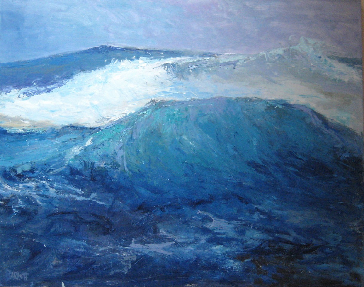 Ira Barkoff ,   Wave Series: Swell  ,  2014     oil on canvas ,  48 x 60 in. (121.9 x 152.4 cm)     IB180601